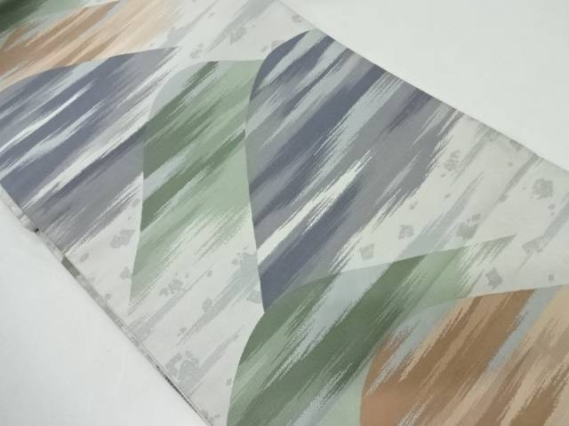 未使用品 山並みに霞模様織出し袋帯【リサイクル】【中古】