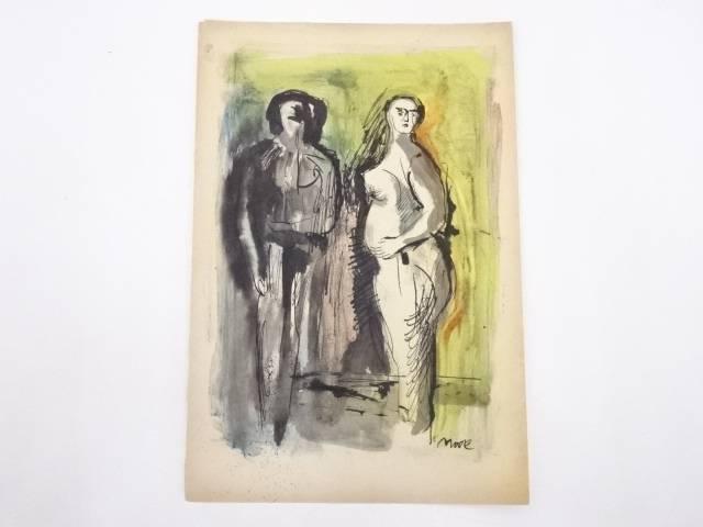 絵画 ヘンリー・ムーア 水彩画