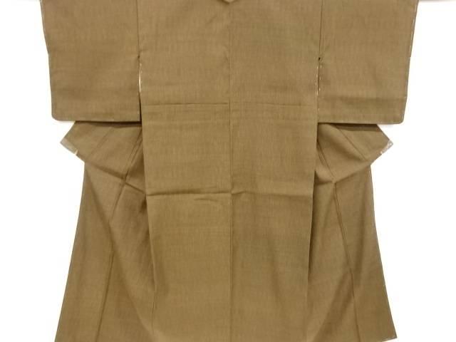 未使用品 立涌模様織り出し手織り真綿紬着物【リサイクル】【中古】