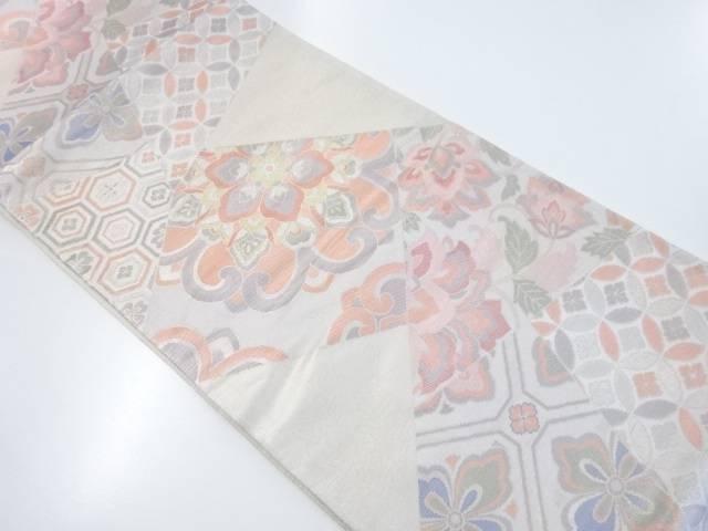 赫本厳 切りばめ風華紋に古典柄織出袋帯【リサイクル】【中古】