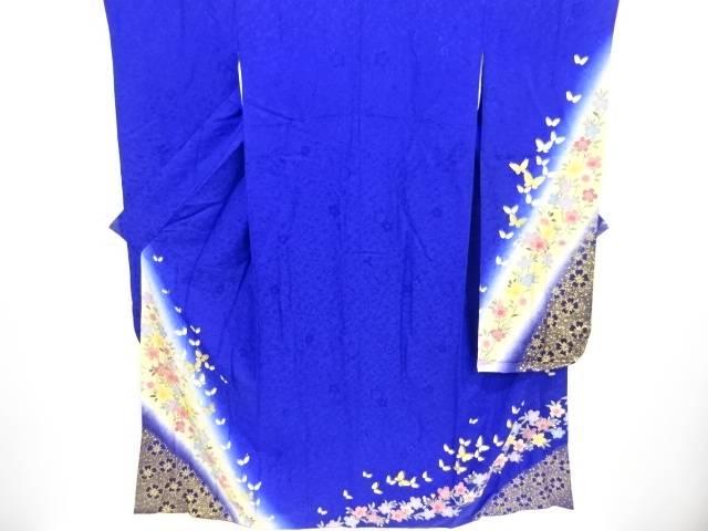 金彩桜に蝶模様刺繍振袖 長襦袢・袋帯セット【リサイクル】【中古】