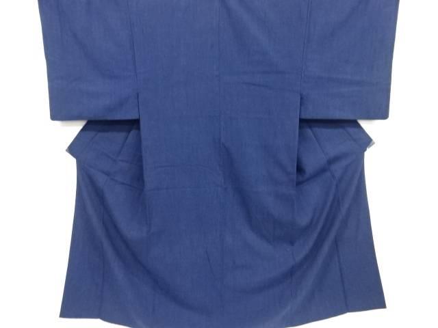 織柄手織り真綿紬男物着物アンサンブル(キングサイズ)【リサイクル】【中古】