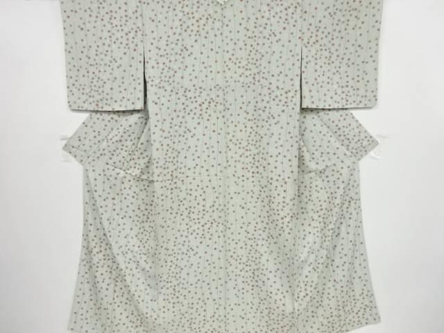 未使用品 よろけ縞に毬模様単衣小紋着物【リサイクル】【中古】