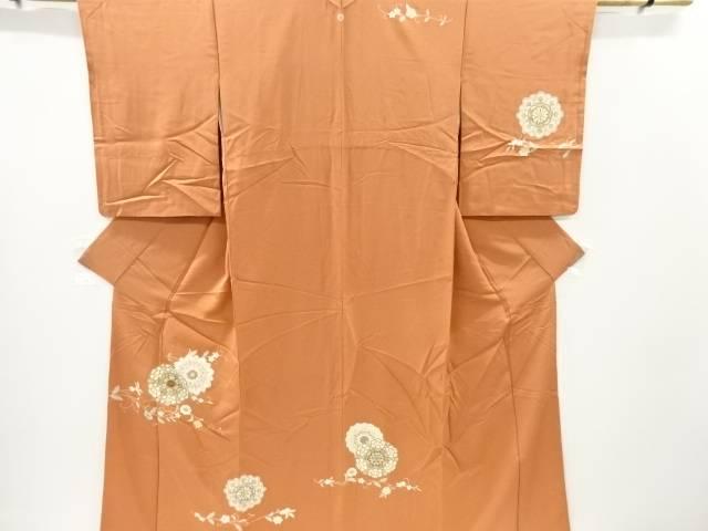 金彩友禅華紋模様刺繍一つ紋訪問着【リサイクル】【中古】