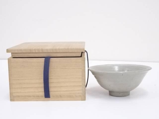 古物 灰釉茶碗