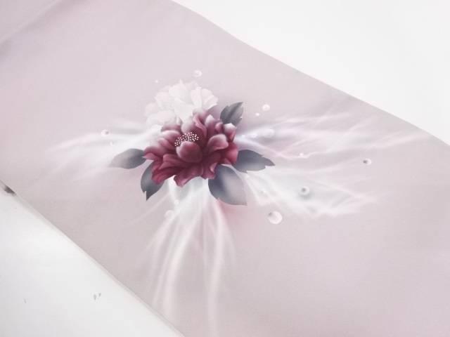 水玉に花模様織出し袋帯【リサイクル】【中古】