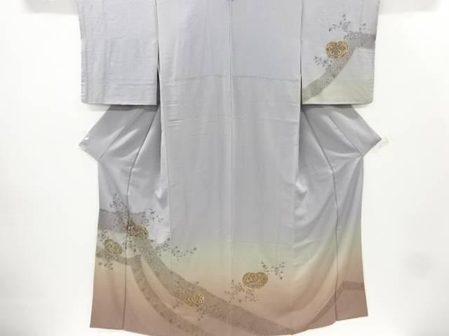 合計3980円以上の購入で送料無料 汕頭蘇州刺繍花更紗模様訪問着 商品 中古 リサイクル セール商品