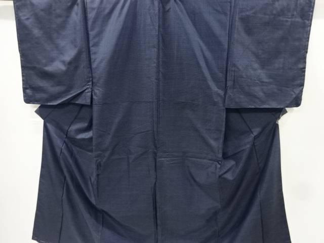 未使用品 仕立て上がり 亀甲絣柄織出本場村山大島紬男物着物アンサンブル