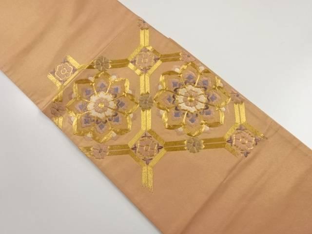 引箔華紋蜀江紋刺繍袋帯【リサイクル】【中古】