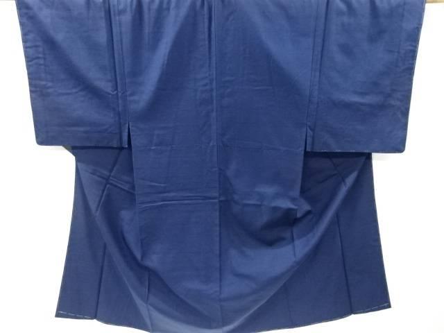 未使用品 仕立て上がり 手織り真綿紬男物着物アンサンブル(キングサイズ)