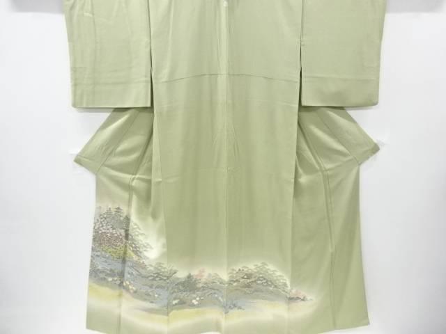 寿光織修学院離宮模様織り出し一つ紋色留袖【リサイクル】【中古】