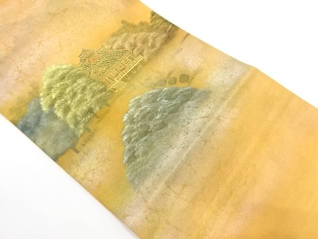 作家物 瑞巌寺模様織出し袋帯【リサイクル】【中古】