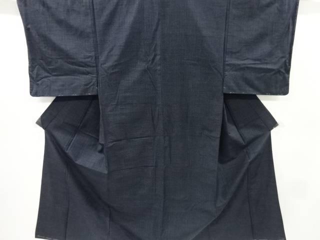 未使用品 手織り紬男物着物アンサンブル【リサイクル】【中古】