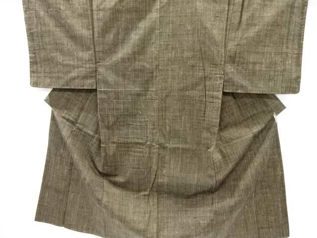 未使用品 仕立て上がり 手織り節紬男物着物アンサンブル
