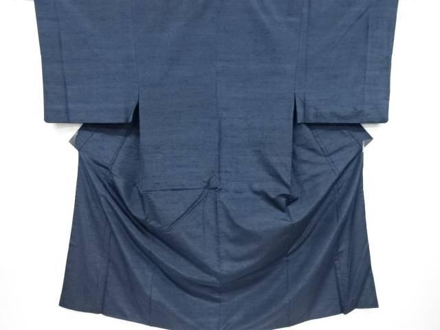 手織り節紬男物着物アンサンブル・長襦袢セット(キングサイズ)【リサイクル】【中古】