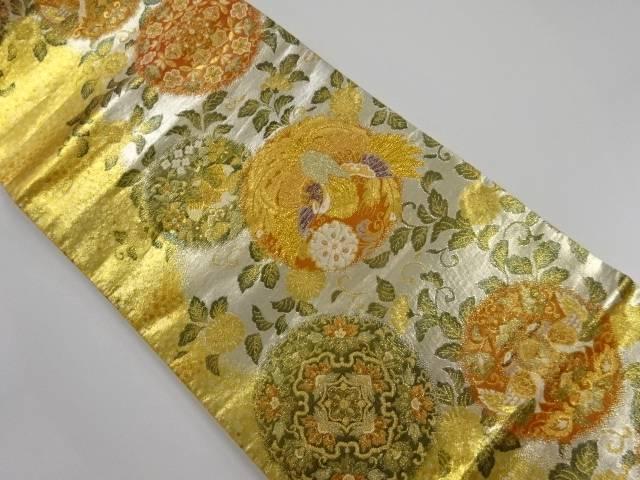 佐賀錦 花鳥丸紋織り出し袋帯 リサイクルSzqUVpM