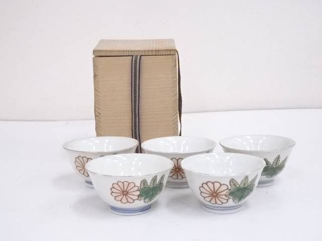 色絵菊桐文煎茶碗5客