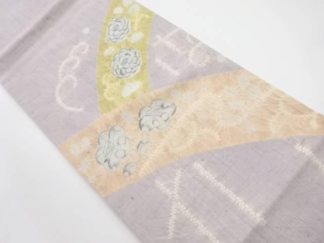生紬絞り辻ヶ花模様袋帯【リサイクル】【中古】