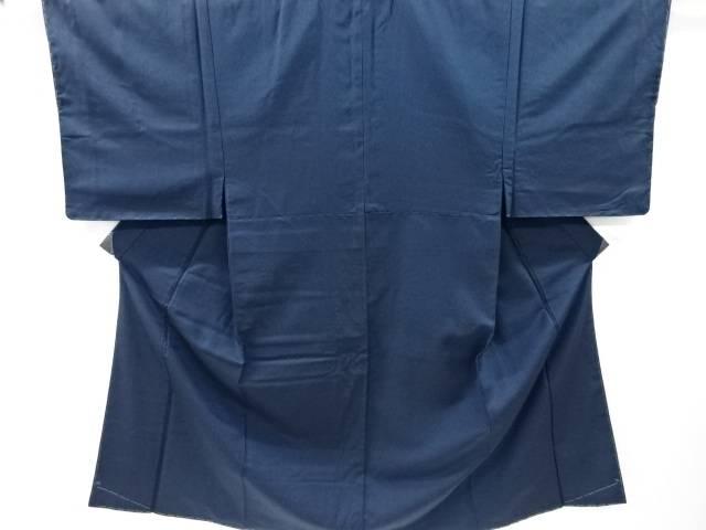 未使用品 仕立て上がり 手織り節紬男物着物アンサンブル(キングサイズ)