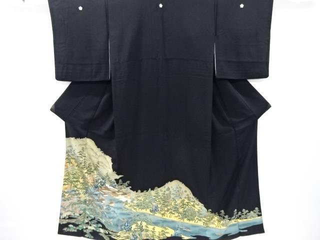 金彩遠山に厳島神社模様留袖(比翼付き)【リサイクル】【中古】