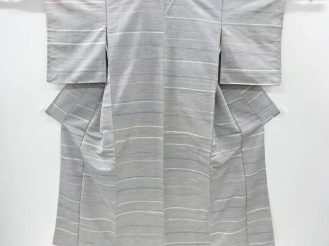 未使用品 横段織り出し手織り紬着物【リサイクル】【中古】