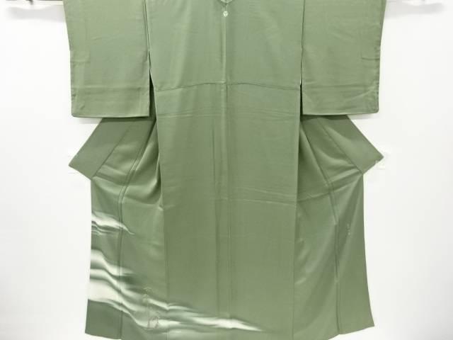 蘇州刺繍霞に松模様一つ紋訪問着【リサイクル】【中古】