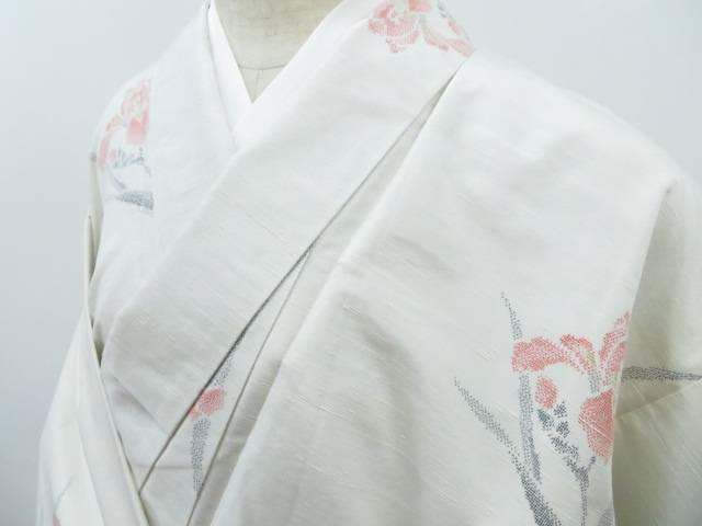 紬 菖蒲文 着物【リサイクル】【中古】