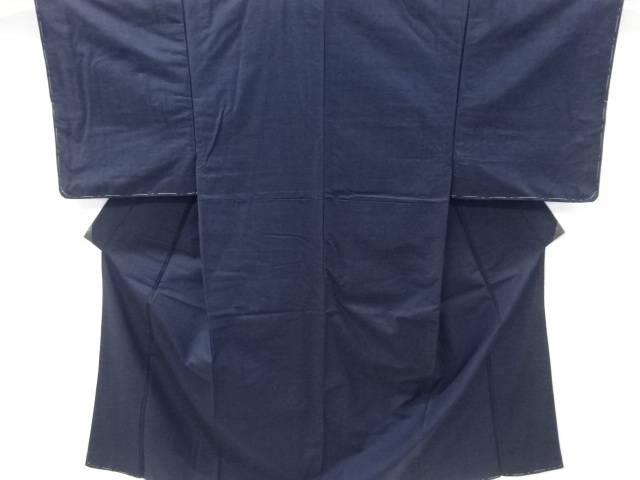 未使用品 仕立て上がり 手織り真綿ひげ紬男物着物アンサンブル