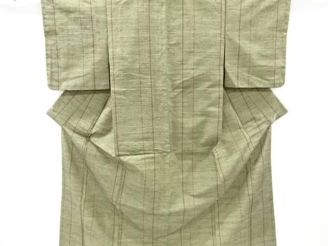 ざざんざ織縞織り出し着物【アンティーク】【中古】
