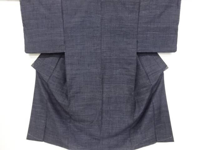 未使用品 手織り真綿紬男物着物 長襦袢セット【リサイクル】【中古】