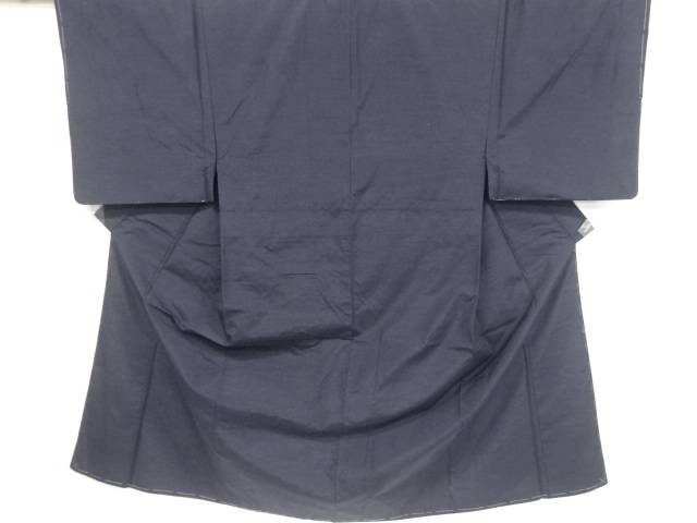 未使用品 手織り真綿紬男物着物アンサンブル・長襦袢セット【リサイクル】【中古】