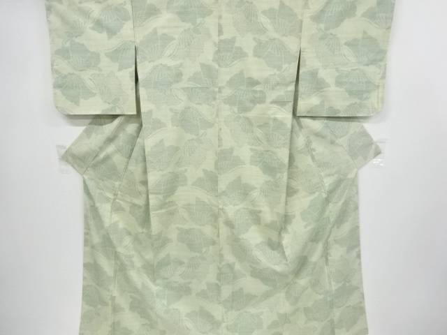 蝶模様織り出し十日町紬着物【リサイクル】【中古】