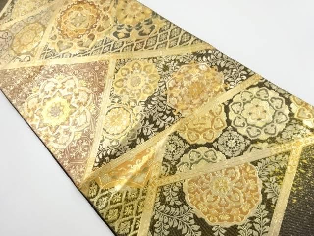 箔置き螺鈿華紋更紗模様袋帯【リサイクル】【中古】