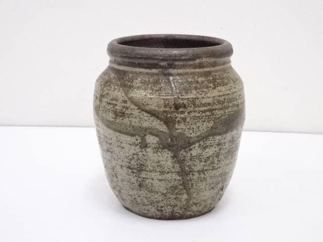 古物 灰釉壷