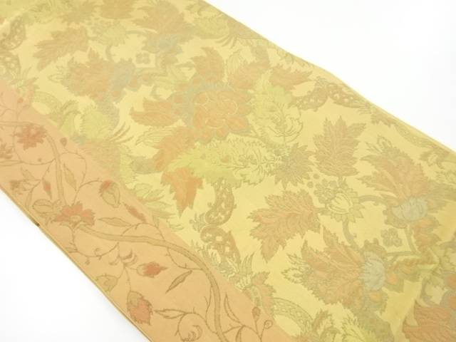 川島織物製 唐花模様織り出し本袋帯【リサイクル】【中古】