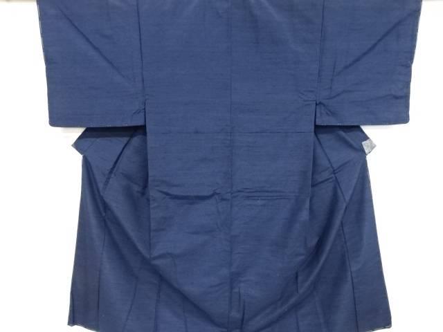 未使用品 仕立て上がり 編み目模様織り出し手織り紬男物着物アンサンブル