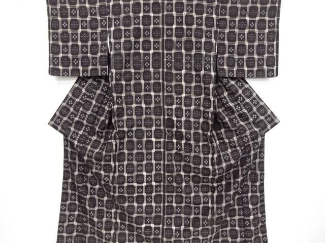 未使用品 本場琉球絣手織り紬着物【リサイクル】【中古】