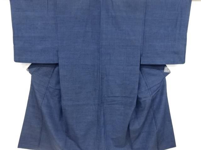 手織り真綿紬男物着物アンサンブル・長襦袢セット【リサイクル】【中古】