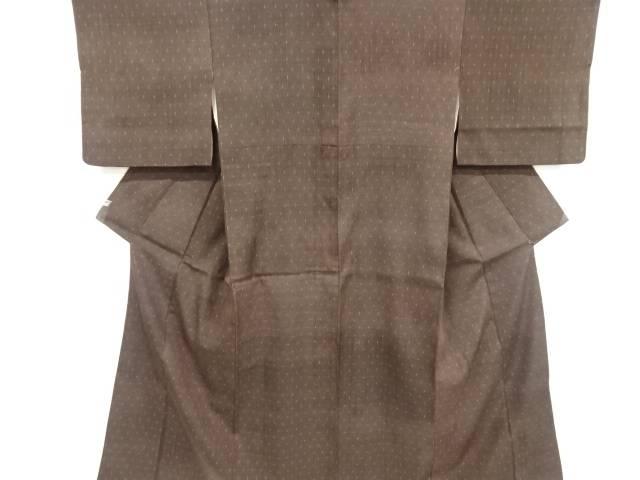 重要無形文化財本場結城紬十字絣織り出し着物【リサイクル】【中古】