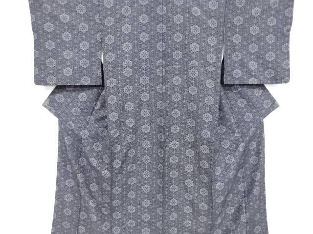 抽象華紋模様手織り紬着物【リサイクル】【中古】