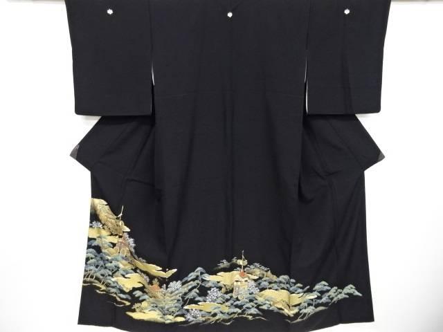 金彩祇園祭模様刺繍留袖(比翼付き)【リサイクル】【中古】