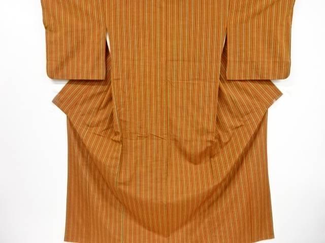 卓出 合計3980円以上の購入で送料無料 縞織り出し手織り節紬着物 中古 送料無料お手入れ要らず リサイクル