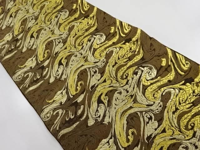 本金 墨流し模様織り出し袋帯【リサイクル】【中古】