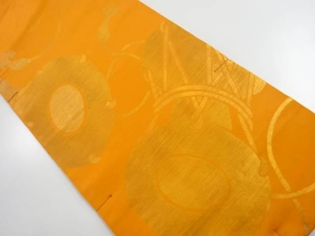 未使用品 本家加納製 九重錦鼓模様織り出し本袋帯【リサイクル】【中古】