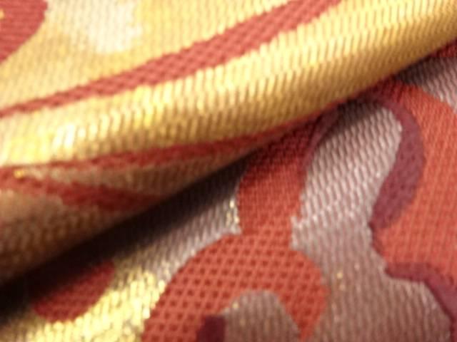 花唐草模様織出し袋帯 リサイクル35Aq4RLcj
