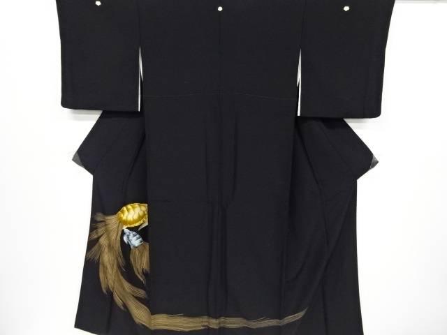 蓑亀模様刺繍留袖(比翼付き)【リサイクル】【中古】