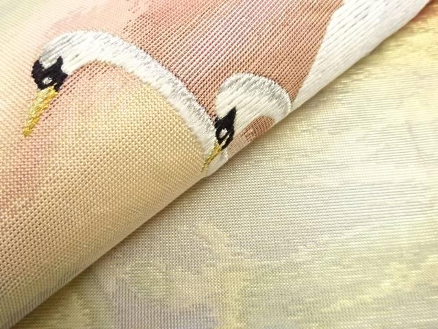 本金白鳥模様織り出し袋帯 リサイクルYfvI7y6gmb
