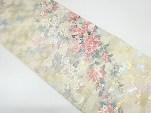 枝花模様織出しぼかし袋帯【リサイクル】【中古】