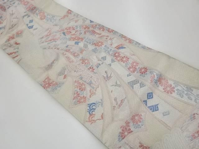 束ね熨斗模様織出し袋帯【リサイクル】【中古】