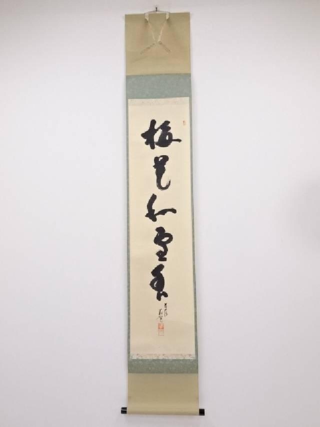 前大徳 戸田義晃筆「梅花和雪香」一行書 肉筆紙本掛軸 (保護箱)